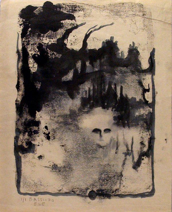 Lot #54: SOFIA BASSI - Untitled - Monoprint