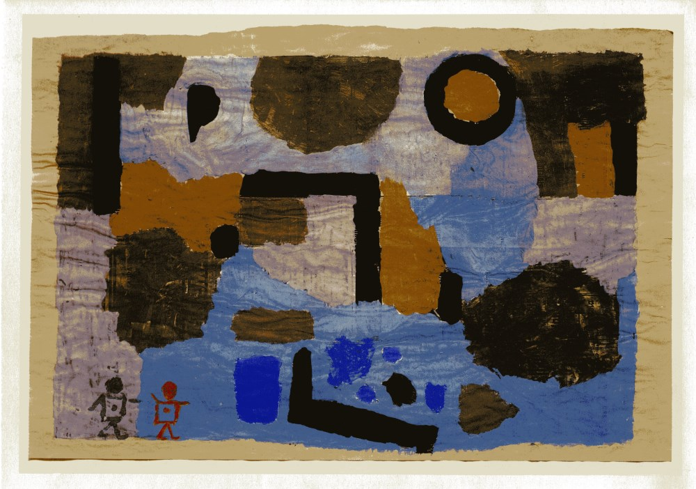 """Lot #16: PAUL KLEE - With the Two Strays [""""Avec les deux egares'] - Original color collotype"""