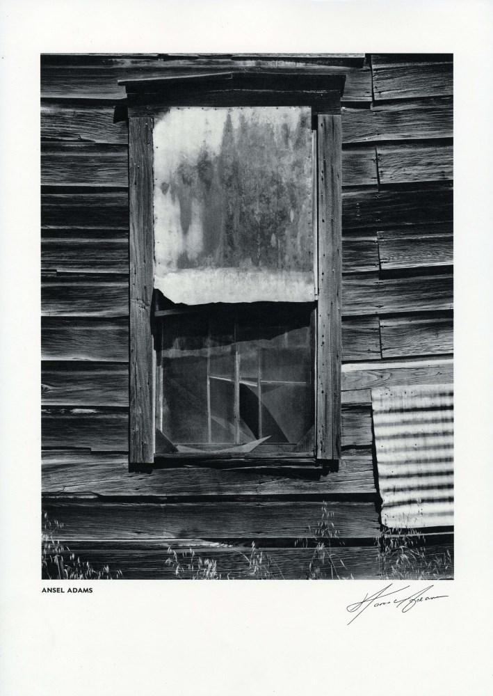 Lot #20: ANSEL ADAMS - Window, Bear Valley, California - Original vintage photogravure