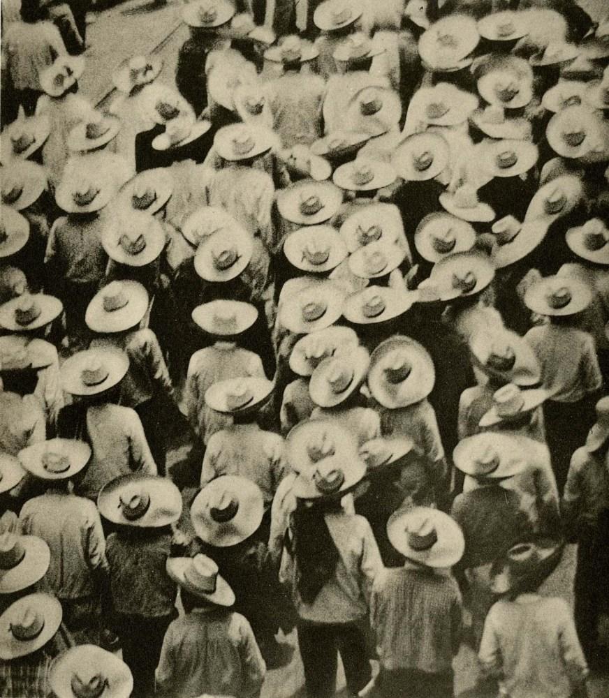 Lot #9: TINA MODOTTI - Workers Parade - Original vintage photogravure