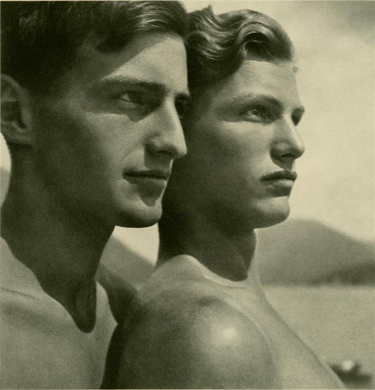 Lot #1: RUDOLF KOPPITZ - Zwei Bruder - Original vintage photometalgraph