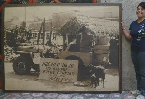 Lot #21: HUGO BREHME - Willys Jeep - Super grand mammoth vintage silver gelatin print
