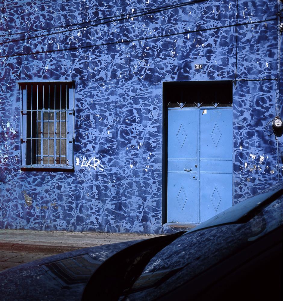 Lot #31: PABLO AGUINACO LLANO - Atlixco Azul - Color analogue photograph