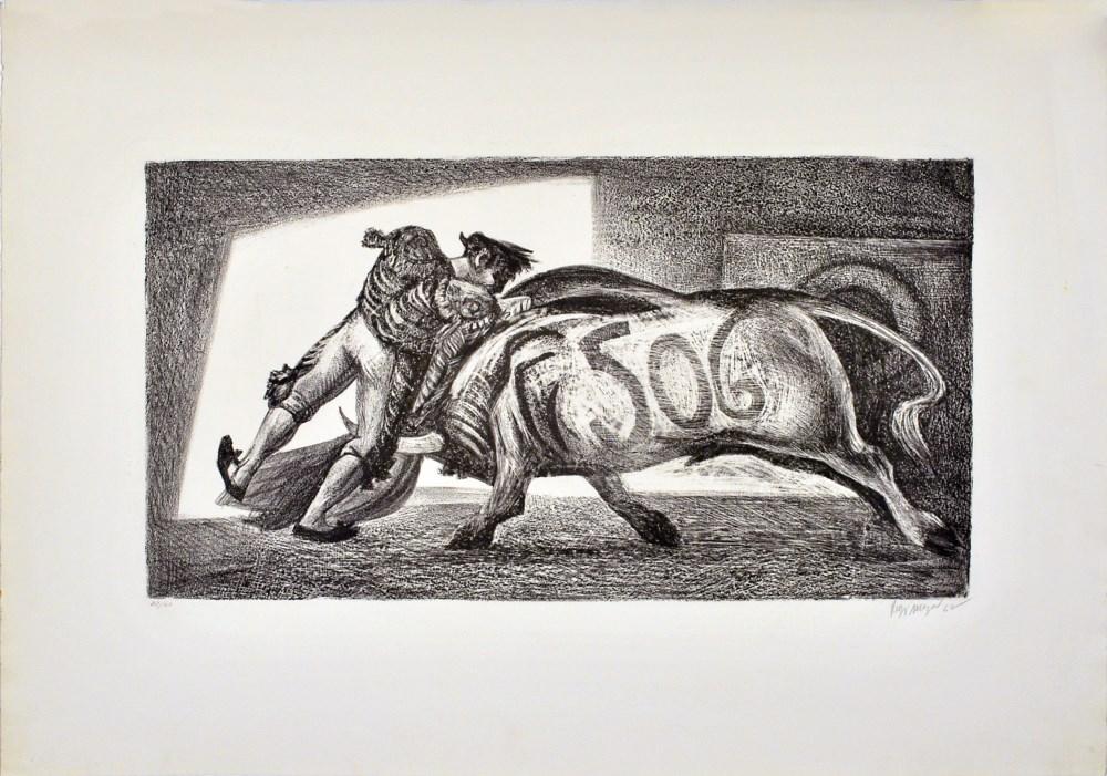Lot #87: JOSE REYES MEZA - Toro 506 - Lithograph