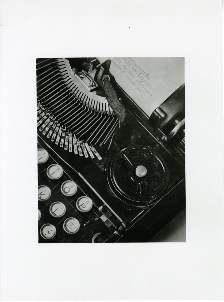 Lot #101: TINA MODOTTI - The Typewriter of Julio Antonio Mella - Original photogravure