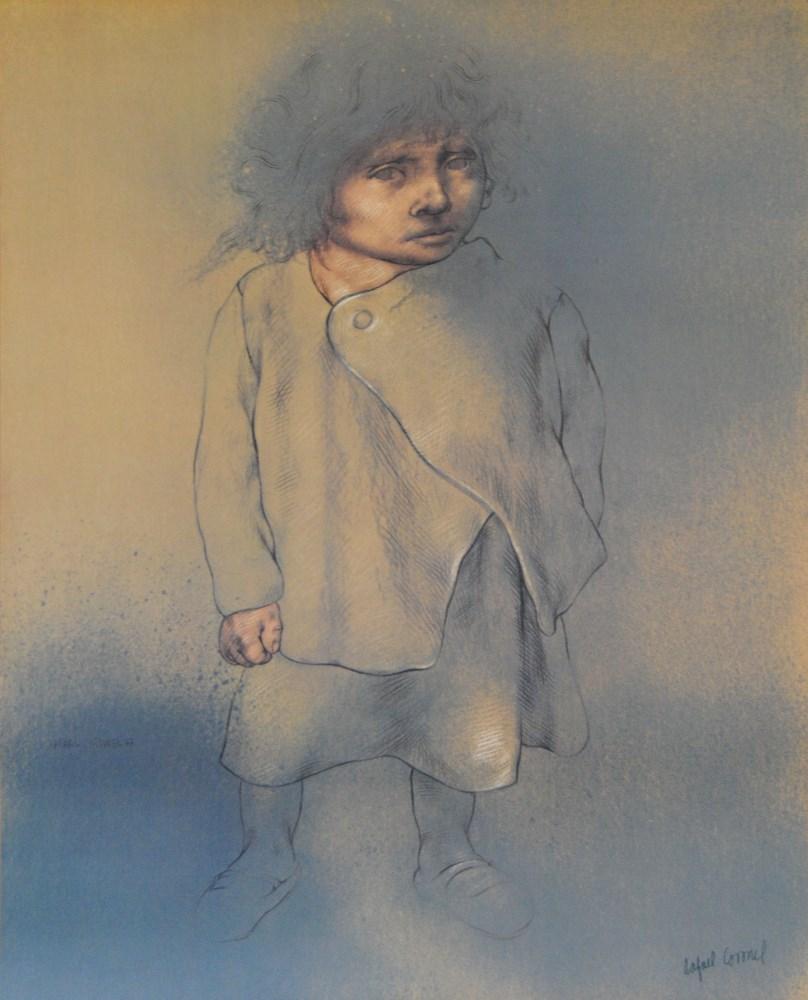 Lot #1060: RAFAEL CORONEL - Niño Frans Hals - Color offset lithograph
