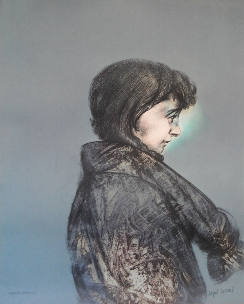 Lot #1179: RAFAEL CORONEL - La Extinta - Color offset lithograph