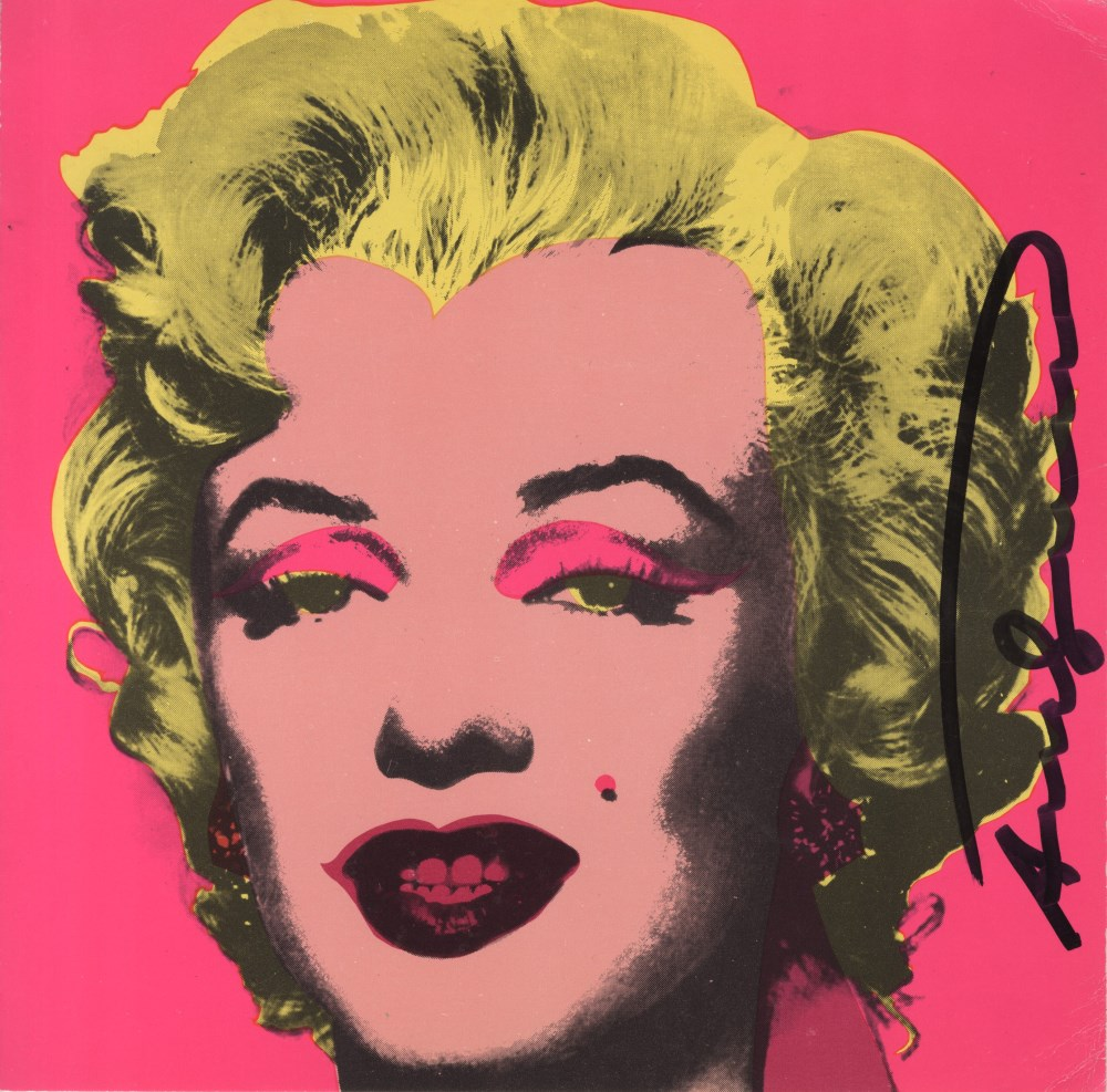 Lot #1120: ANDY WARHOL - Marilyn - Original color offset lithograph