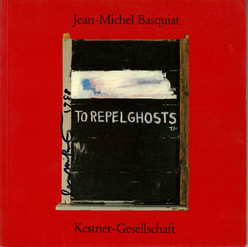 Lot #89: JEAN-MICHEL BASQUIAT - To Repel Ghosts - Color offset lithograph (front cover)