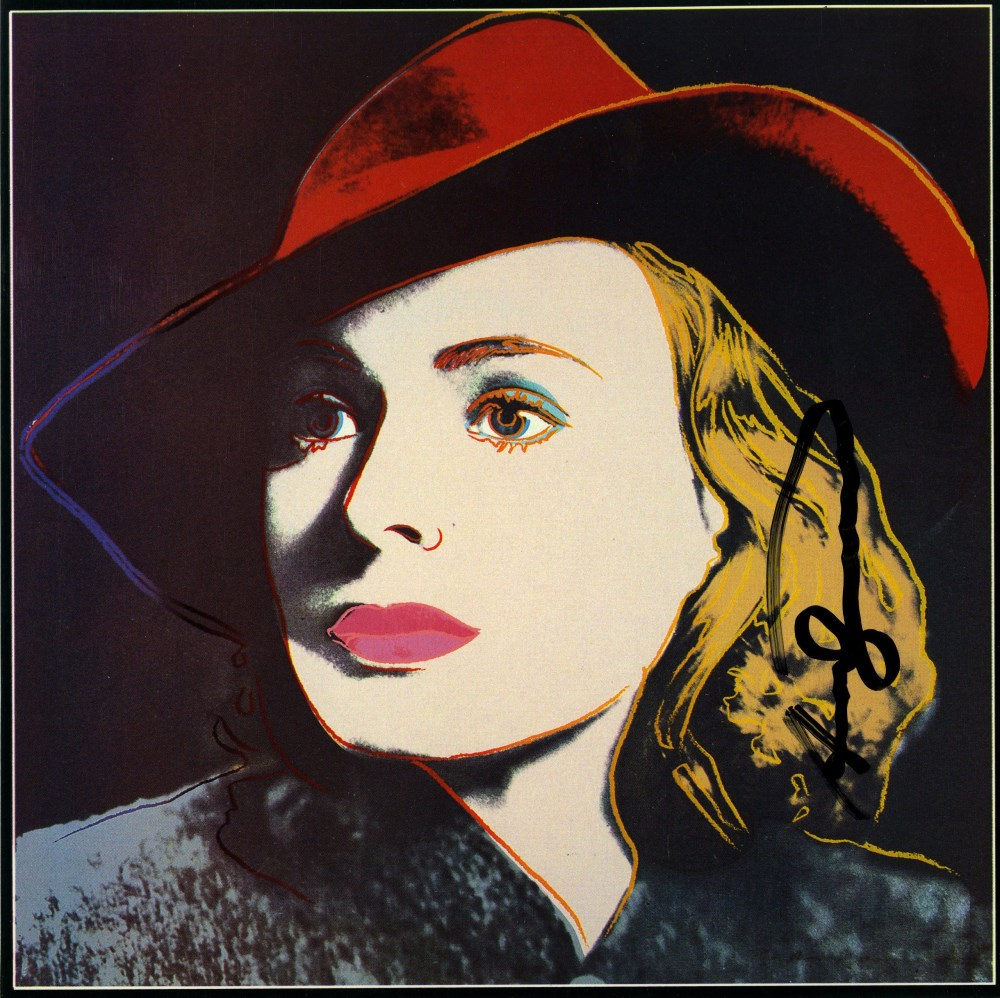 Lot #1205: ANDY WARHOL - Ingrid Bergman: With Hat (06) - Color offset lithograph