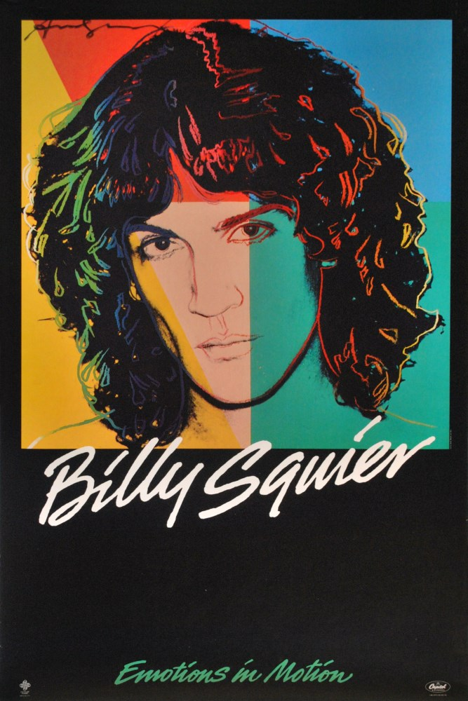 Lot #63: ANDY WARHOL - Billy Squier #1 - Original color offset lithograph