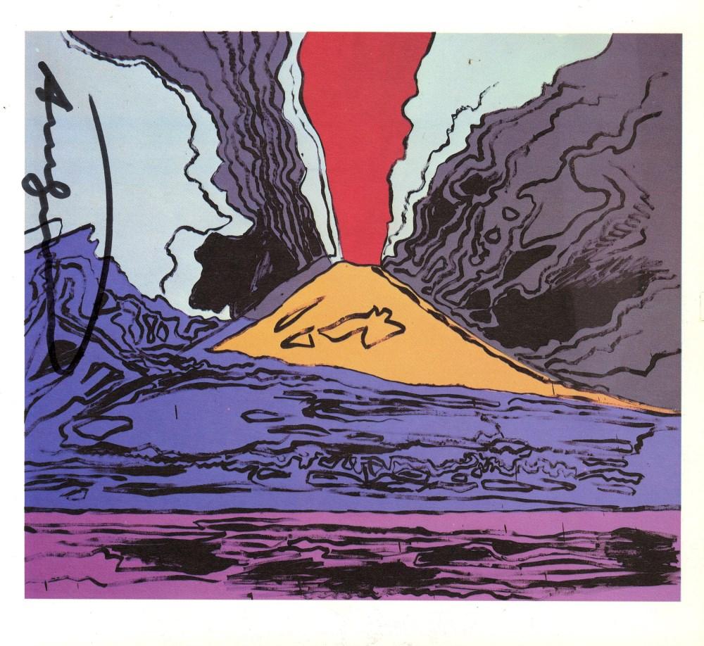 Lot #44: ANDY WARHOL - Vesuvius #02 - Color offset lithograph