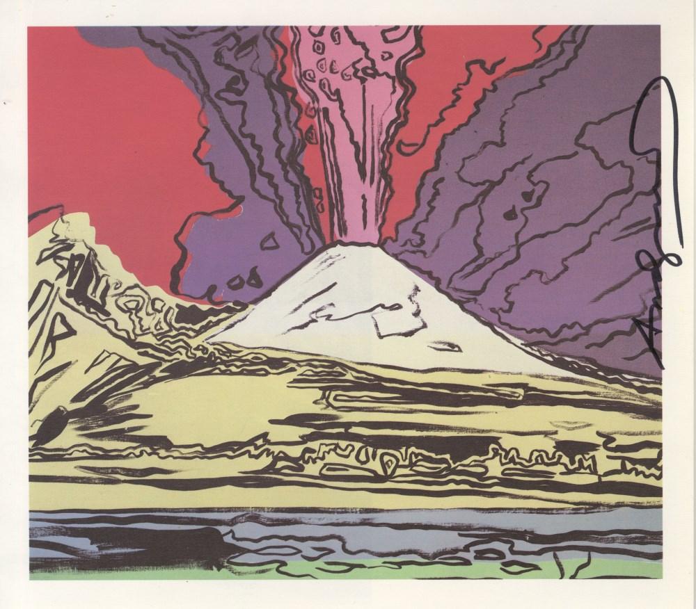 Lot #43: ANDY WARHOL - Vesuvius #06 - Color offset lithograph