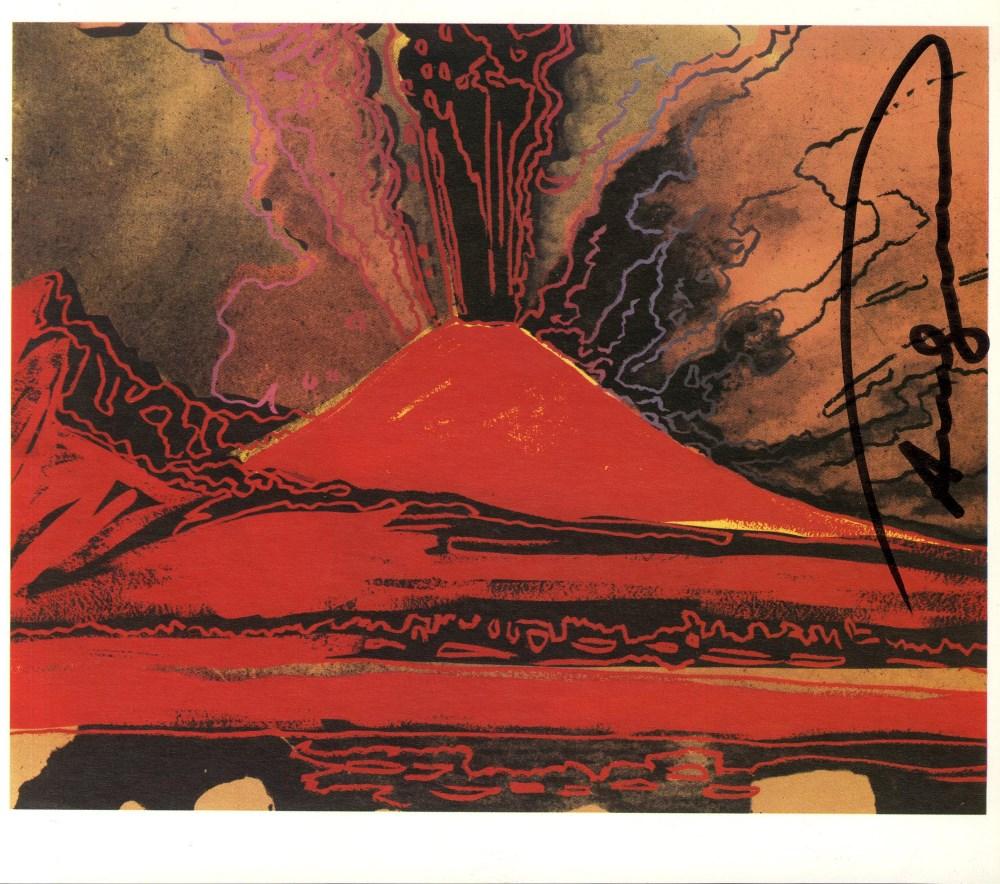 Lot #42: ANDY WARHOL - Vesuvius #14 - Color offset lithograph