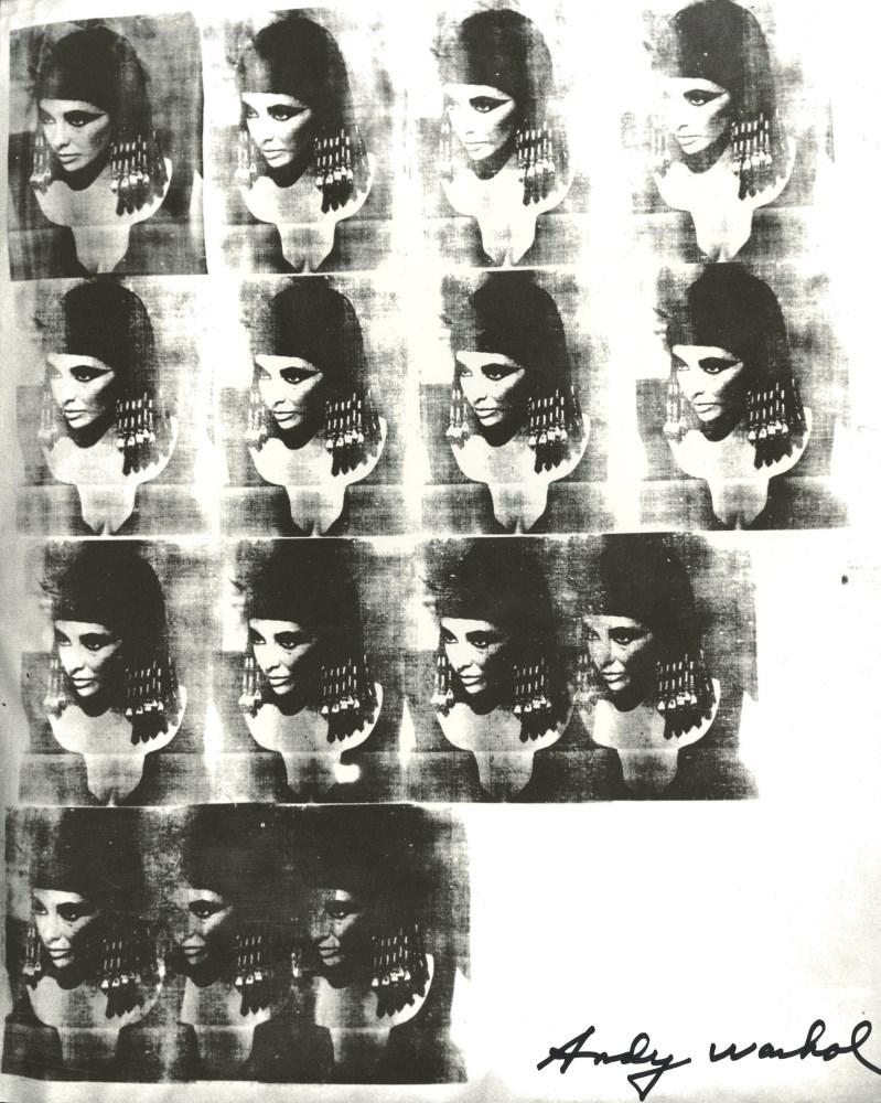 Lot #1148: ANDY WARHOL - Liz As Cleopatra - Original letterpress print