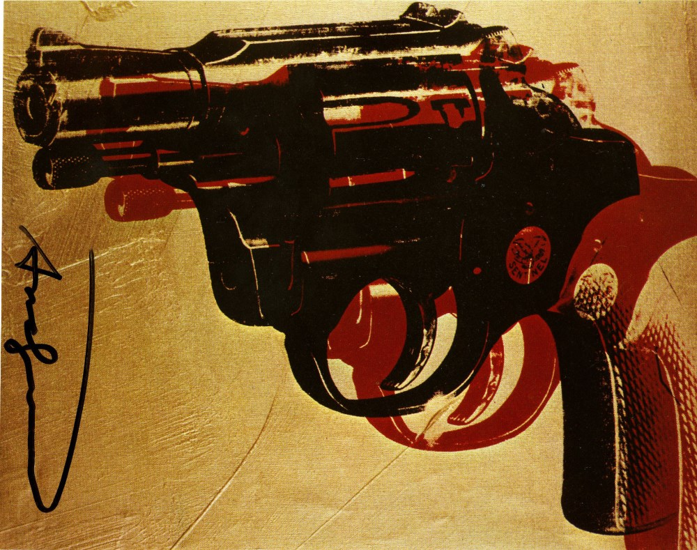 Lot #1737: ANDY WARHOL - Guns #08 - Color offset lithograph