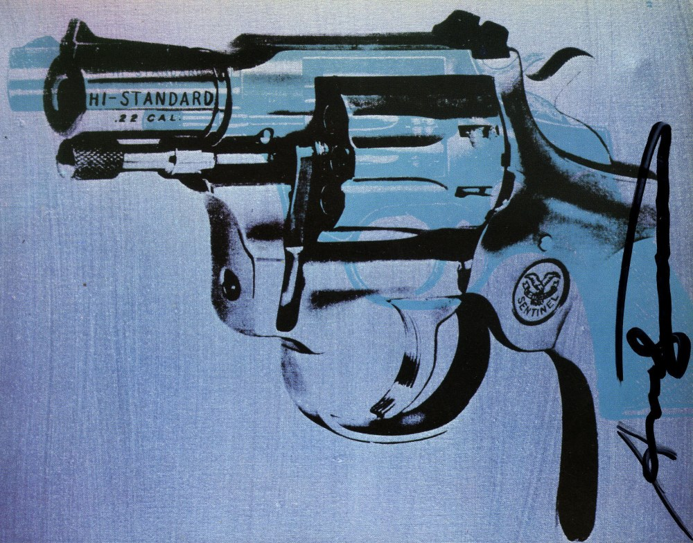 Lot #1013: ANDY WARHOL - Guns #09 - Color offset lithograph