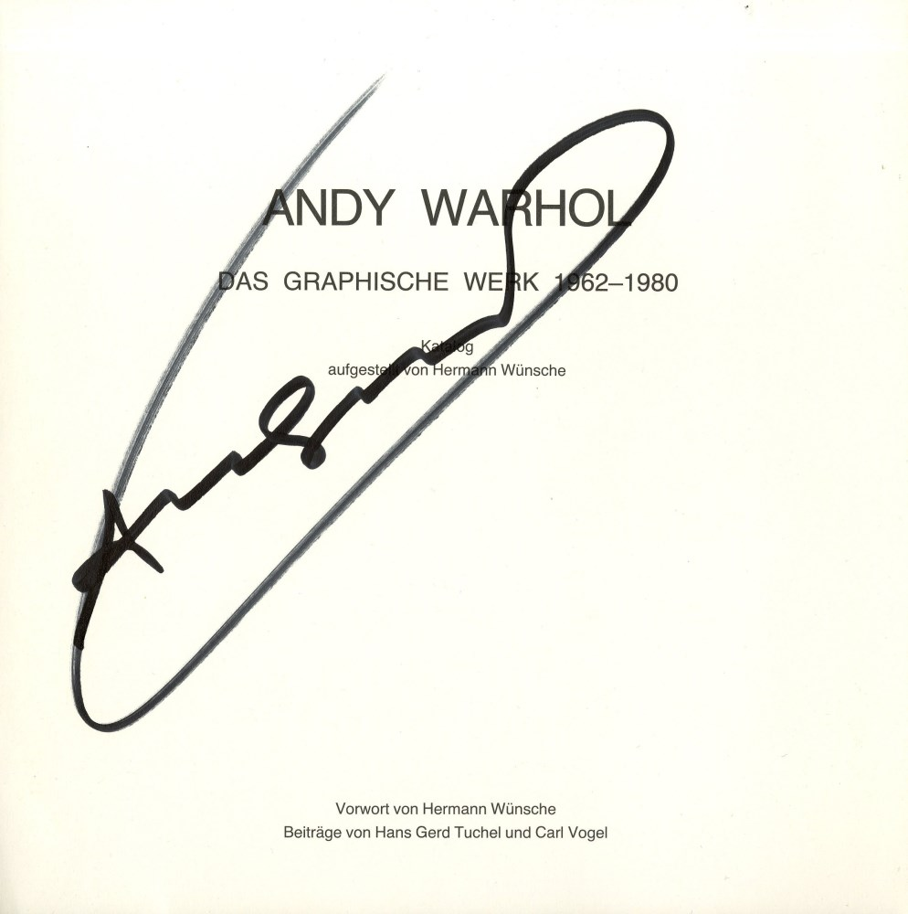 Lot #29: ANDY WARHOL - Warhol/Wunsche #2 - Autograph - signature on paper