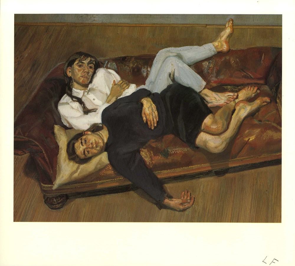 Lot #1431: LUCIAN FREUD - Bella and Esther - Color offset lithograph
