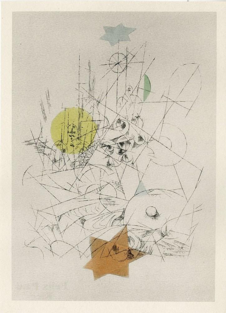 Lot #2: PAUL KLEE - Zerstoerung und Hoffnung - Original color lithograph & stencil/ pochoir