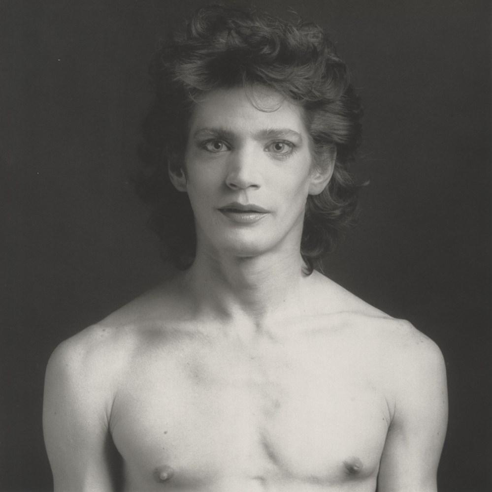 Lot #899: ROBERT MAPPLETHORPE - Self-Portrait, Barechested - Original vintage photogravure