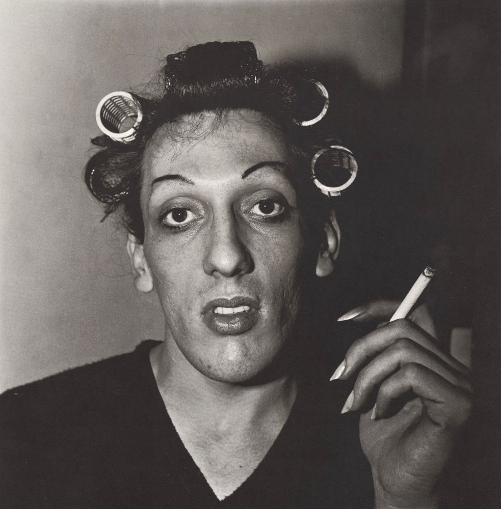 Lot #5: DIANE ARBUS - Young Man in Curlers at Home on West 20th Street, N.Y.C - Original vintage photogravure