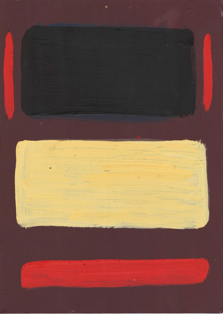 Lot #58: MARK ROTHKO - Untitled No.7 - Oil on wood panel