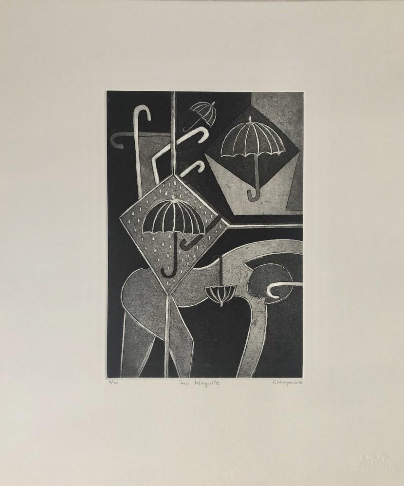 Lot #343: KARIMA MUYAES - My Magritte - Etching & aquatint