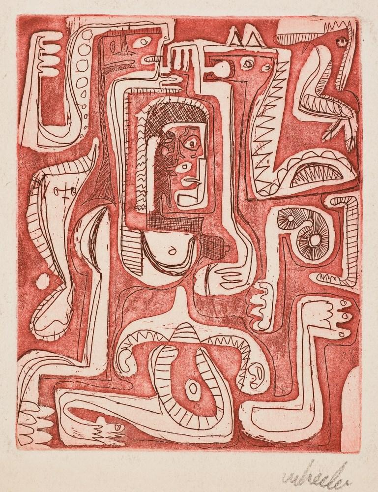 Lot #93: STEVE WHEELER - Tigresita at Work - Color etching
