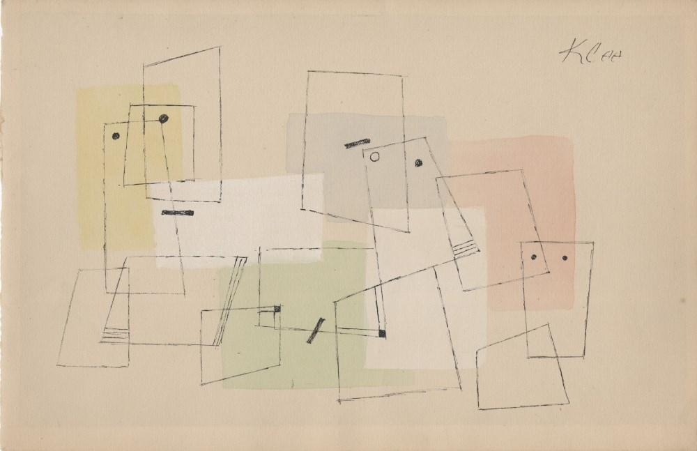 Lot #1185: PAUL KLEE - Komposition - Watercolor and ink drawing on paper
