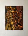 Lot #1260: KARIMA MUYAES - Fuego - Color etching with aquatint