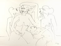 Lot #603: KARIMA MUYAES - Dialogo (Dialogue) - Pen and ink on paper