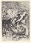 Lot #1942: PIERRE-AUGUSTE RENOIR - La chapeau epingle - Original etching
