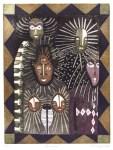 Lot #283: KARIMA MUYAES - Orishas - Color etching with sugarlift aquatint, on a zinc plate à la poupée