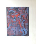 Lot #768: KARIMA MUYAES - Voces y Cantos - Color etching with aquatint