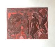 Lot #565: KARIMA MUYAES - Equinoccio - White line color etching with aquatint