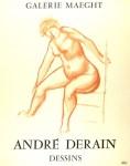 Lot #2230: ANDRE DERAIN - Andre Derain: Dessins. Galerie Maeght - Original color lithograph poster