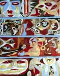 Lot #1090: KARIMA MUYAES - Mosaico IV - Oil on canvas