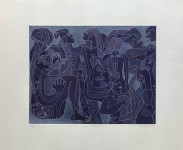 Lot #1303: KARIMA MUYAES - Encanto Nocturno - White line color etching with aquatint
