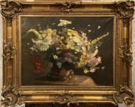 Lot #1829: HENRI FANTIN-LATOUR - Nature morte: fleurs veloutées - Oil on canvas