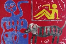 Lot #344: KARIMA MUYAES - My Dog and Portrait - Stencil monoprint