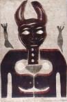 Lot #1432: KARIMA MUYAES - Behind the Cat - Color stencil monoprint