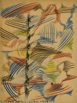 Lot #1057: JALED MUYAES - Non-Objective Composition #01A - Colored pencil
