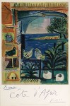 Lot #1344: PABLO PICASSO - Cote d'Azur - Original color lithograph