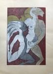 Lot #578: KARIMA MUYAES - El Juego - Color linoleum cut