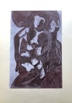 Lot #1084: KARIMA MUYAES - Mujer de Corteza - Color linocut