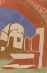 Lot #3: KARIMA MUYAES - Zacatecas - Color cutout monoprint