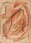 Lot #317: JALED MUYAES - Non-Objective Composition #18 - Color crayon