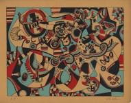 Lot #234: STEVE WHEELER - Prelude in Red - Original color silkscreen