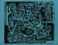 Lot #2172: STEVE WHEELER - Brooklyn in Q-T Formation - Original silkscreen